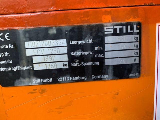 Still EGV1250 High Lift stacker www.staplertechnik.at