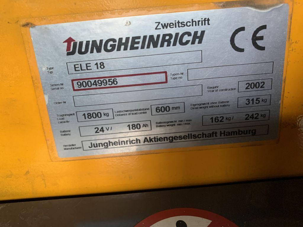 Jungheinrich-ELE 18-Niederhubwagen-www.staplertechnik.at