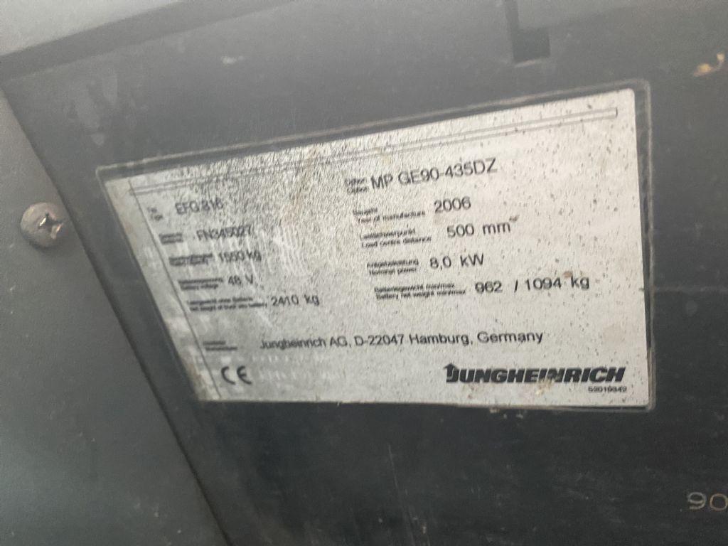 Jungheinrich EFG 316 Electric 4-wheel forklift www.staplertechnik.at