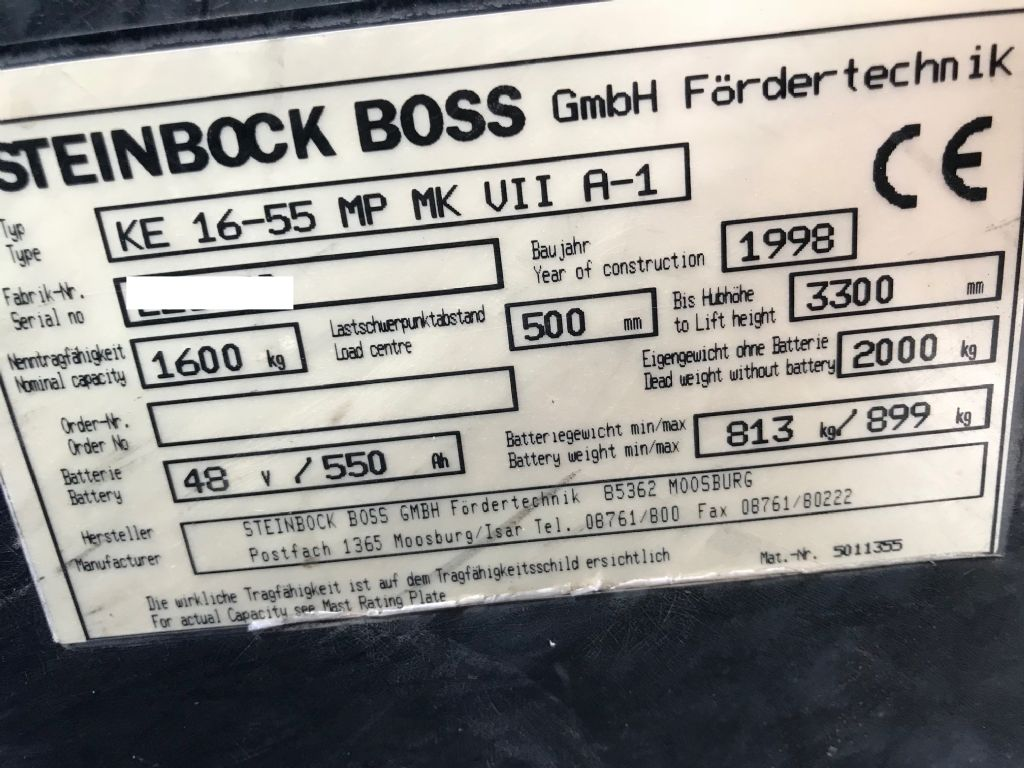 Steinbock Boss-KE 16-55 MP-Elektro 4 Rad-Stapler-www.staplertechnik.at