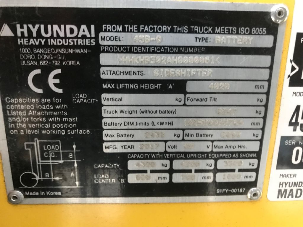 Hyundai-45B-9 -Elektro 4 Rad-Stapler-www.staplertechnik.at