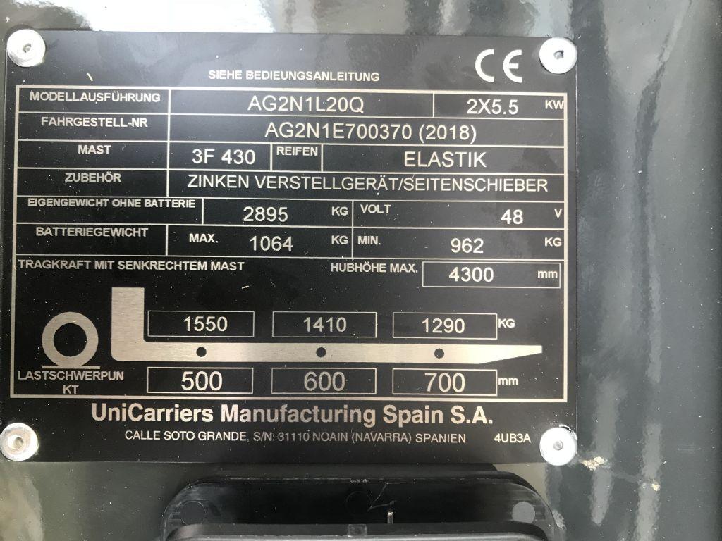UniCarriers-AG2N1L20Q-Elektro 3 Rad-Stapler-www.staplertechnik.at