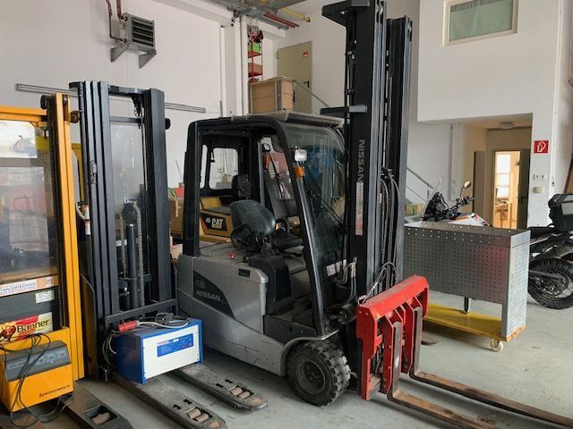 Nissan G1N1L18Q Electric 3-wheel forklift www.staplertechnik.at