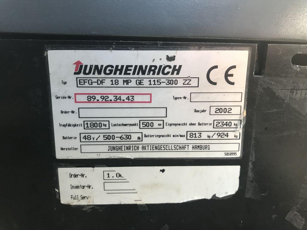 Jungheinrich-EFG DF 18-Elektro 3 Rad-Stapler-www.staplertechnik.at