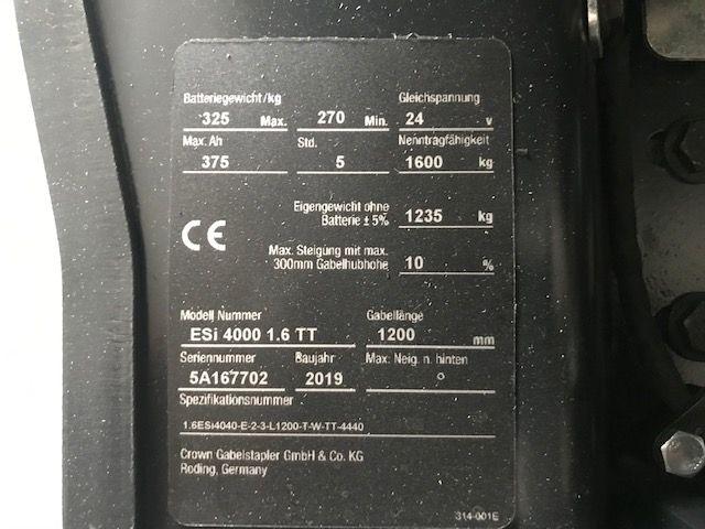 Crown ESi4000 1.6TT High Lift stacker www.staplertechnik.at