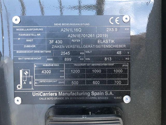 UniCarriers TX3 16Q Elektro 3 Rad-Stapler www.staplertechnik.at