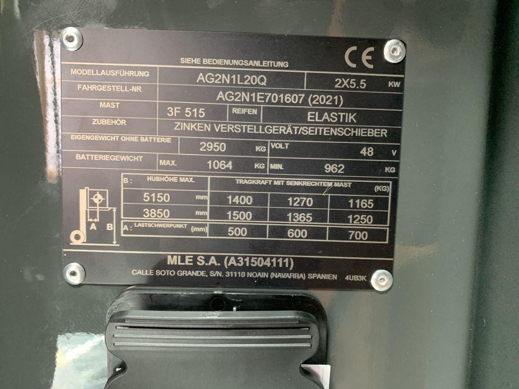 UniCarriers-TX3-20L-Elektro 3 Rad-Stapler-www.staplertechnik.at