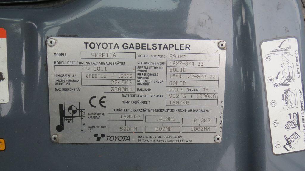 Gebrauchtstapler-Toyota-8FBET16-Elektro 3 Rad-Stapler-www.rf-stapler.de
