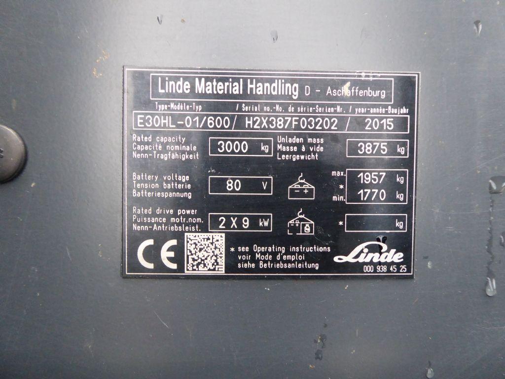 Gebrauchtstapler-Linde-E30HL-01/600-Elektro 4 Rad-Stapler-www.rf-stapler.de
