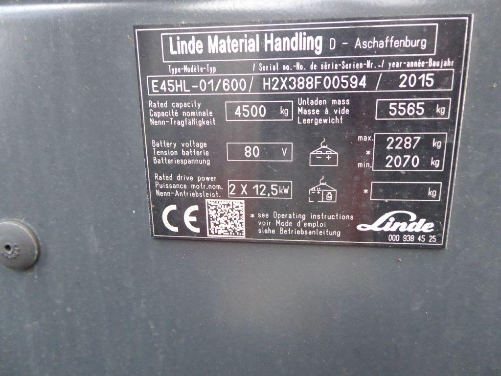 Gebrauchtstapler-Linde-E45HL-01/600-Elektro 4 Rad-Stapler-www.rf-stapler.de