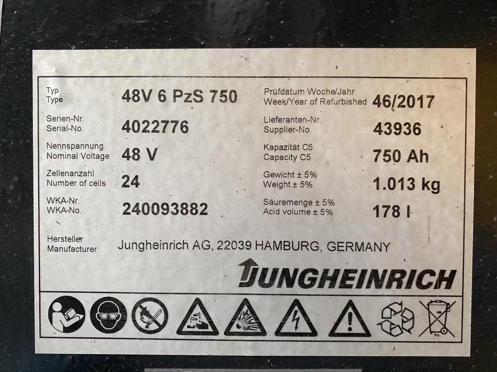 Jungheinrich EFG220 Elektro 3 Rad-Stapler www.roos-gabelstapler.de