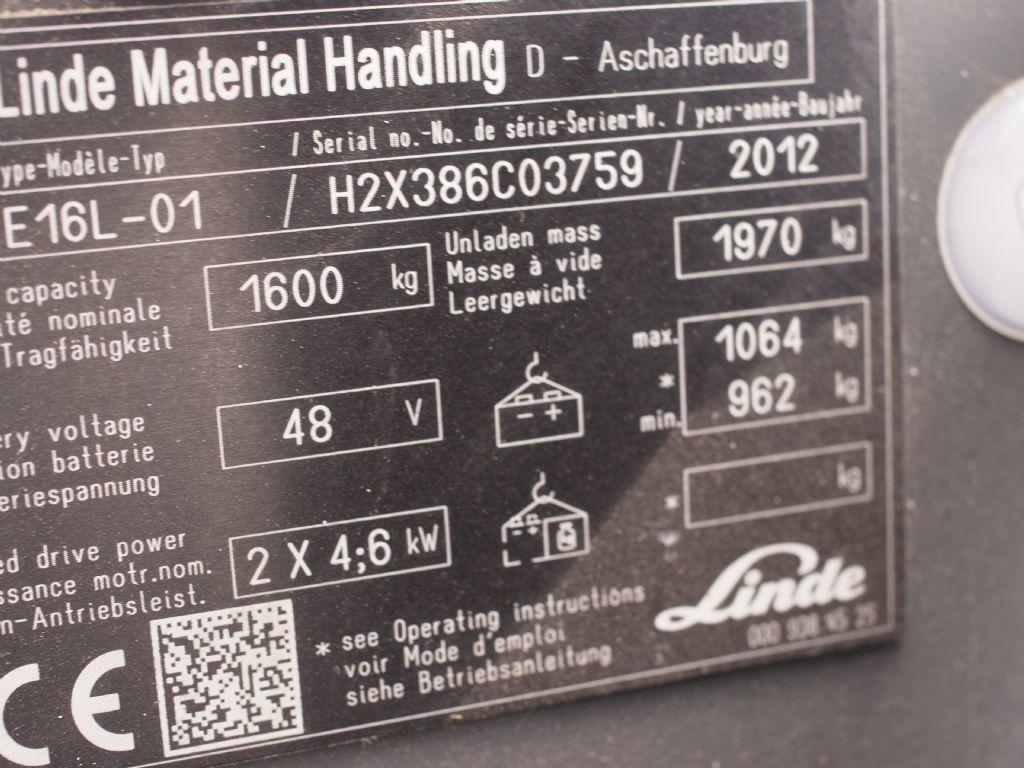 Linde-E 16L-Elektro 3 Rad-Stapler-www.gabelstapler-schmidt.de