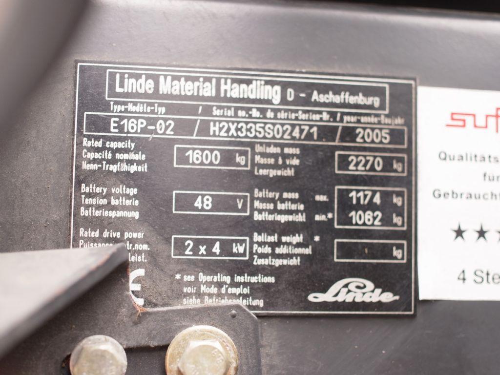 Linde-E 16P-02-Elektro 3 Rad-Stapler-www.gabelstapler-schmidt.de