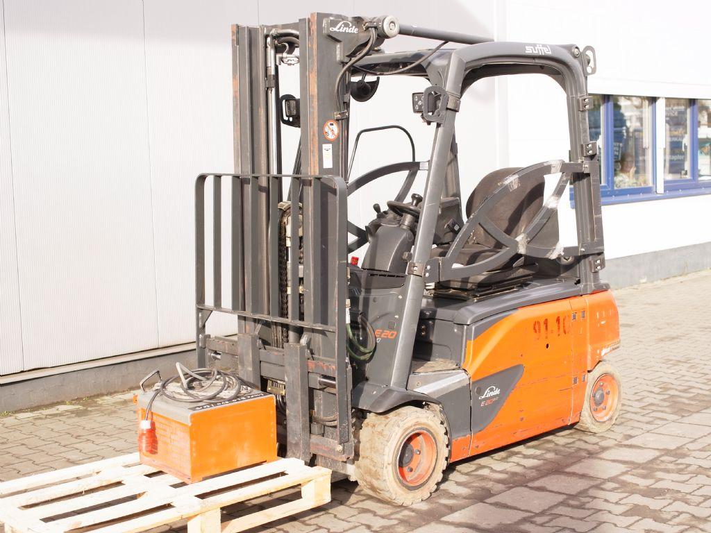 Linde-E 20PL-Elektro 4 Rad-Stapler-www.gabelstapler-schmidt.de