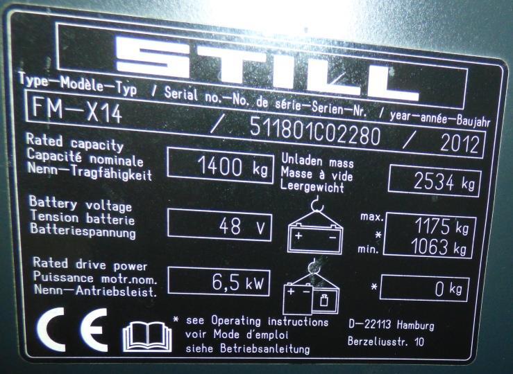 Still FMX14 Schubmaststapler www.schmidt-falbe.de