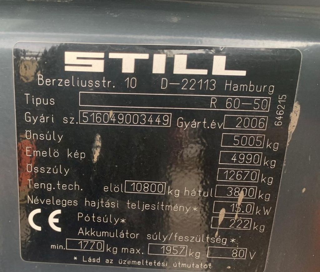 Still R60-50 Elektro 4 Rad-Stapler www.schmidt-falbe.de