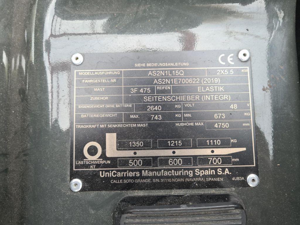 UniCarriers-TX3-15-Elektro 3 Rad-Stapler-www.schuetze-gabelstapler.de
