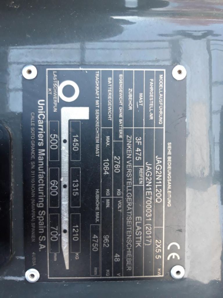 UniCarriers-JAG2N1L20Q-Elektro 4 Rad-Stapler-www.schuetze-gabelstapler.de