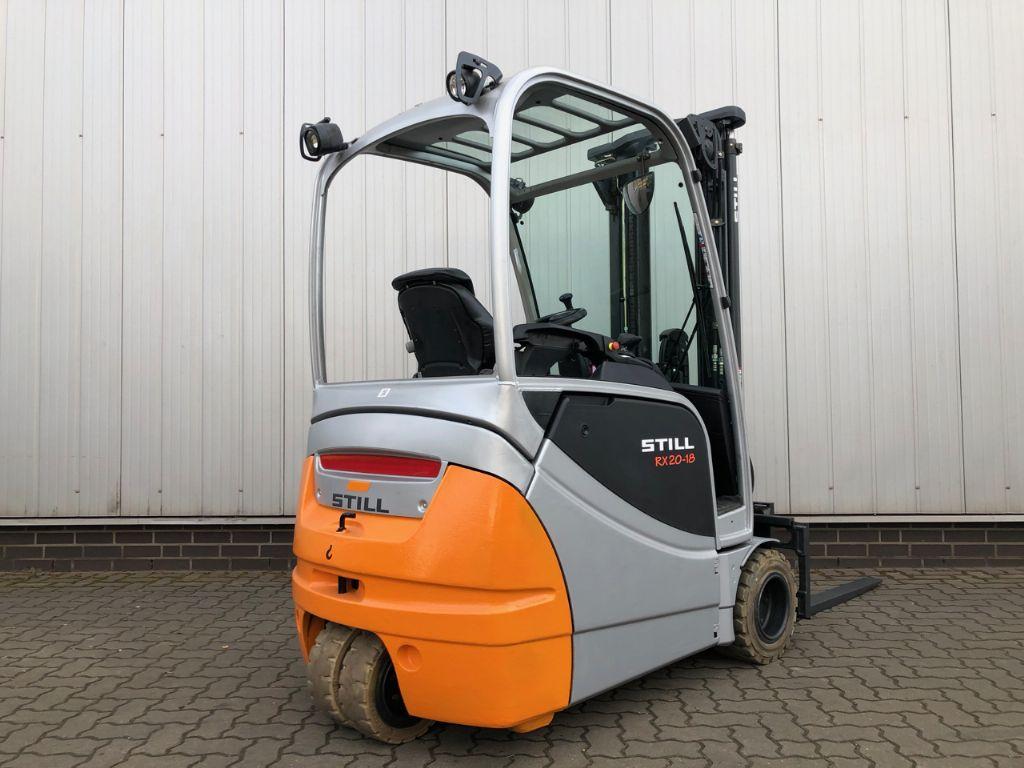 Still RX20-18, nur 2.165 Ist. Elektro 3 Rad-Stapler www.schumacher-gabelstapler.de