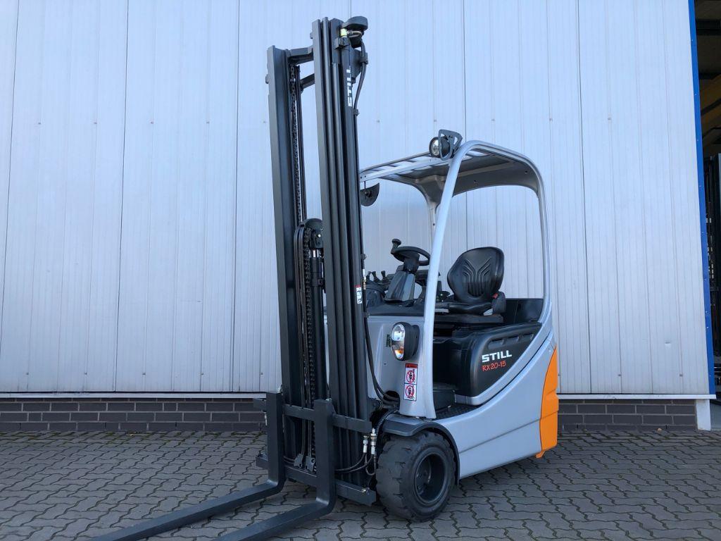 Still RX20-15 - NUR 1.669 Bst! Elektro 3 Rad-Stapler www.schumacher-gabelstapler.de