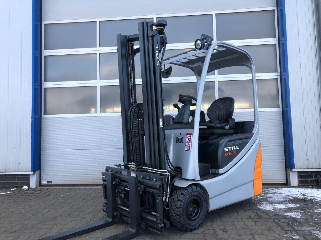 Still RX20-16 - ZINKENVERSTELLUNG Elektro 3 Rad-Stapler www.schumacher-gabelstapler.de