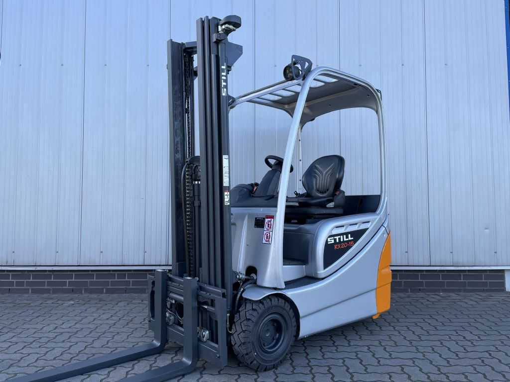 Still RX20-15 - AKKU NEU! Elektro 3 Rad-Stapler www.schumacher-gabelstapler.de