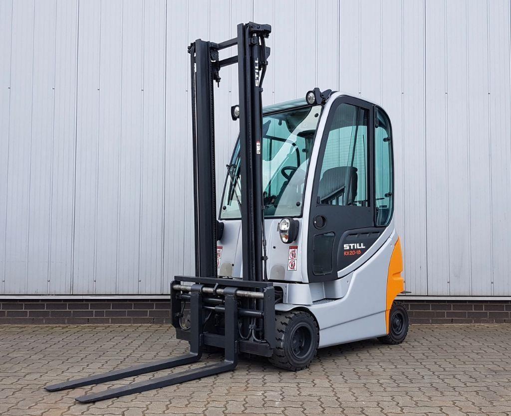 Still RX20-18P/H - Kabine, nur 3000 h Elektro 4 Rad-Stapler www.schumacher-gabelstapler.de