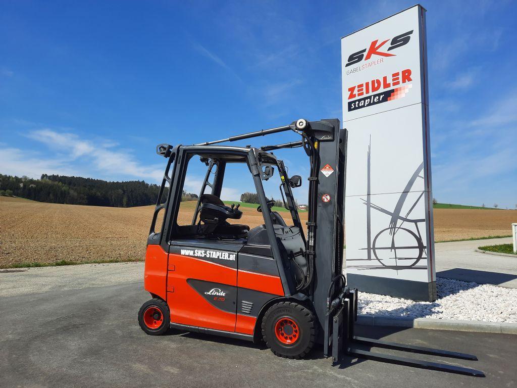 Linde E20H-01/600 Elektro 4 Rad-Stapler www.sks-stapler.at