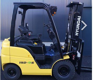 Hyundai 15D-9S Diesel Forklift www.staplertechnik.at
