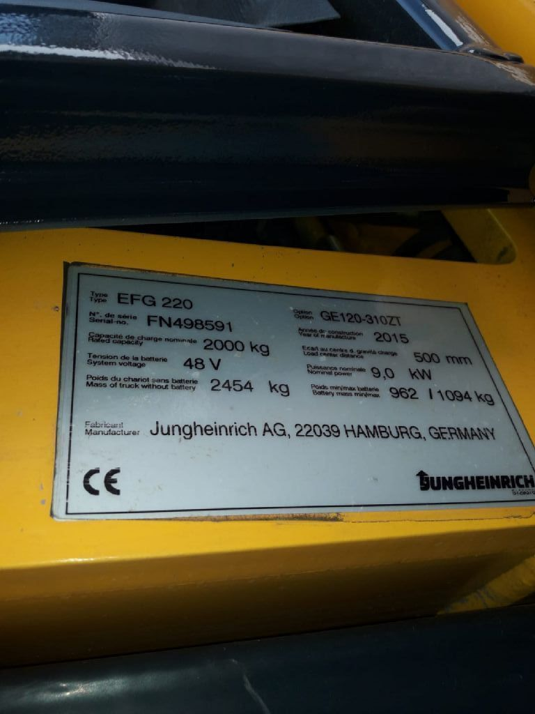 Jungheinrich-EFG 220-Elektro 3 Rad-Stapler-www.sta-tech.de