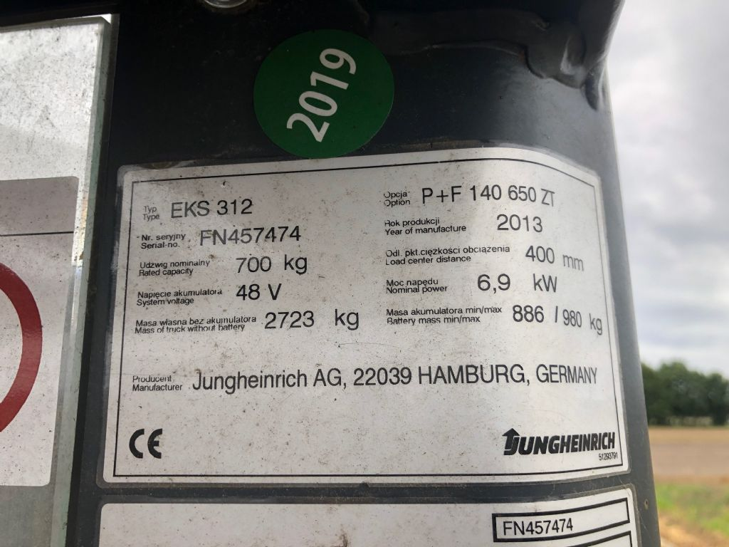 Jungheinrich EKS312 Medium Lift Order Picker www.superlift-forklift.com
