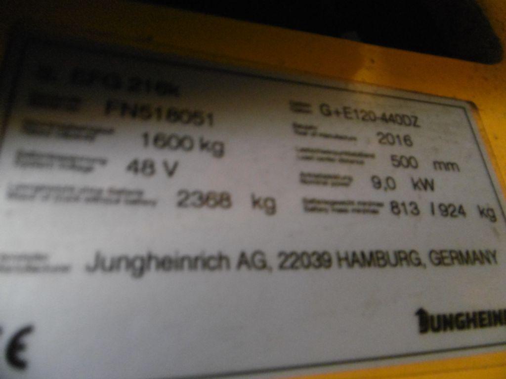 Jungheinrich EFG216k Electric 3-wheel forklift www.superlift-forklift.com