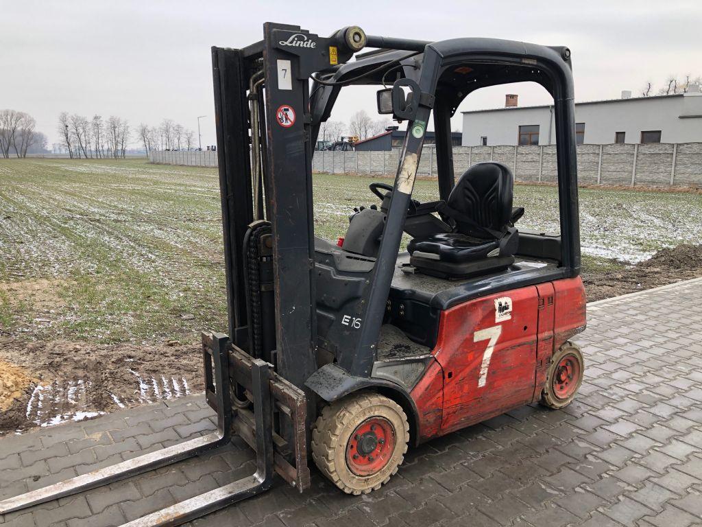 Linde E16P-01 Electric 4-wheel forklift www.superlift-forklift.com