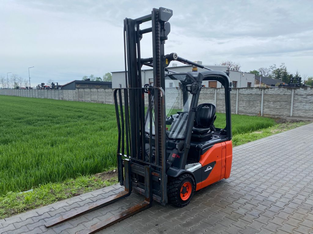Linde E14-02 Electric 3-wheel forklift www.superlift-forklift.com