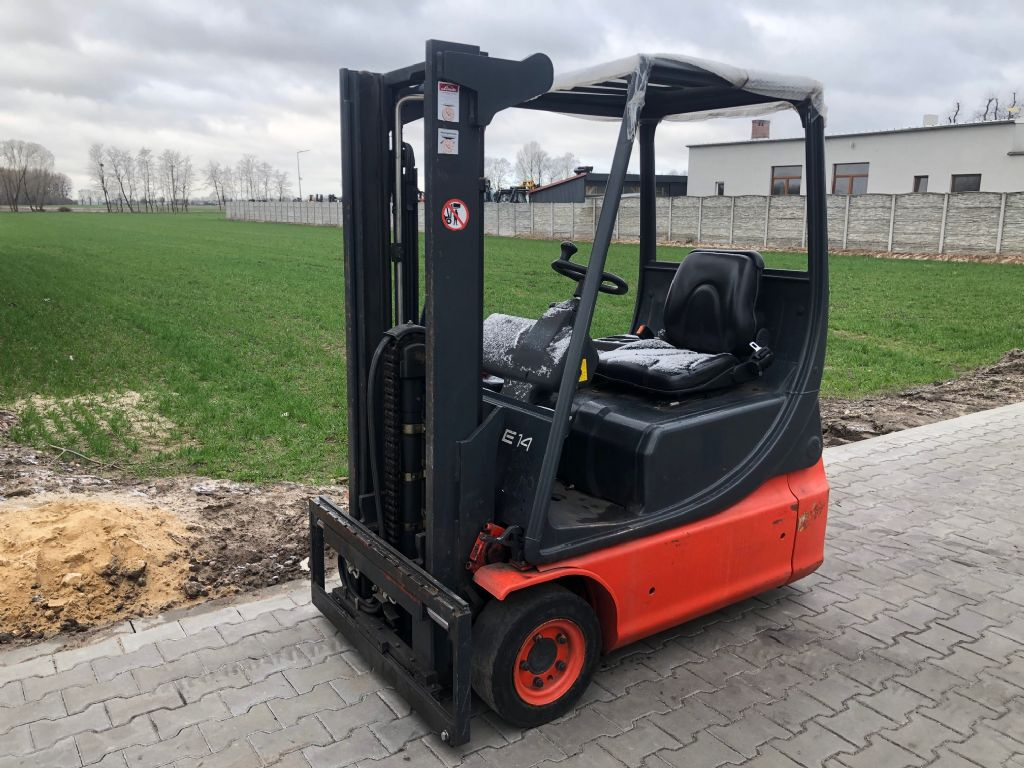 Linde E14 Electric 3-wheel forklift www.superlift-forklift.com