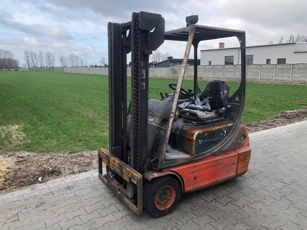 Linde E16C-02 Electric 3-wheel forklift www.superlift-forklift.com
