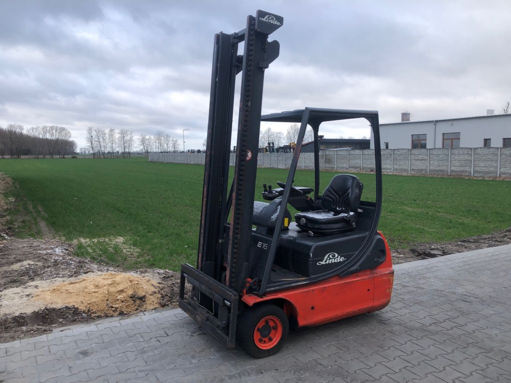 Linde E16 Electric 3-wheel forklift www.superlift-forklift.com