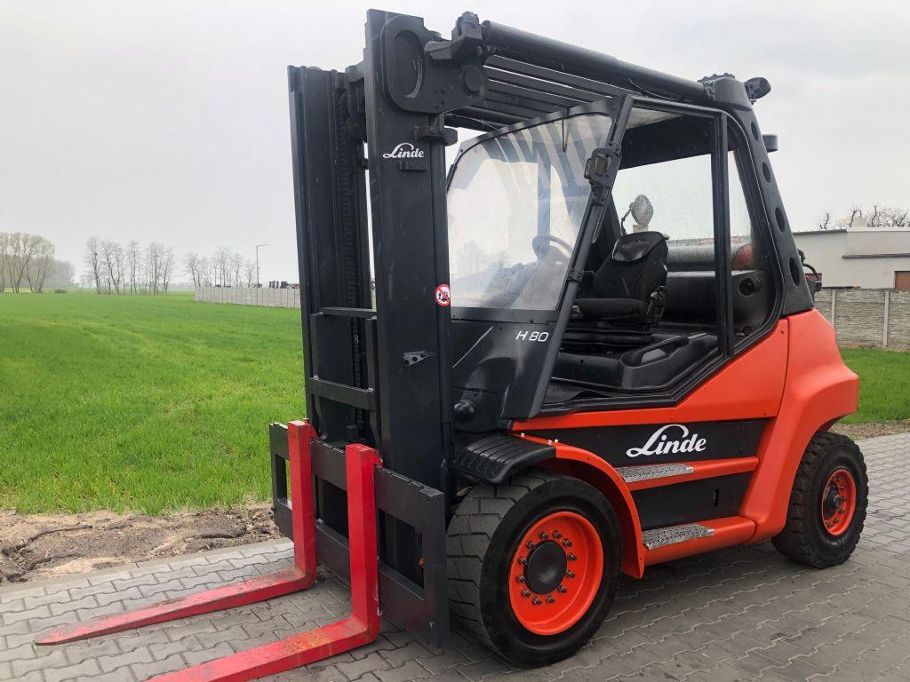 Linde H80T-02 LPG Forklifts www.superlift-forklift.com