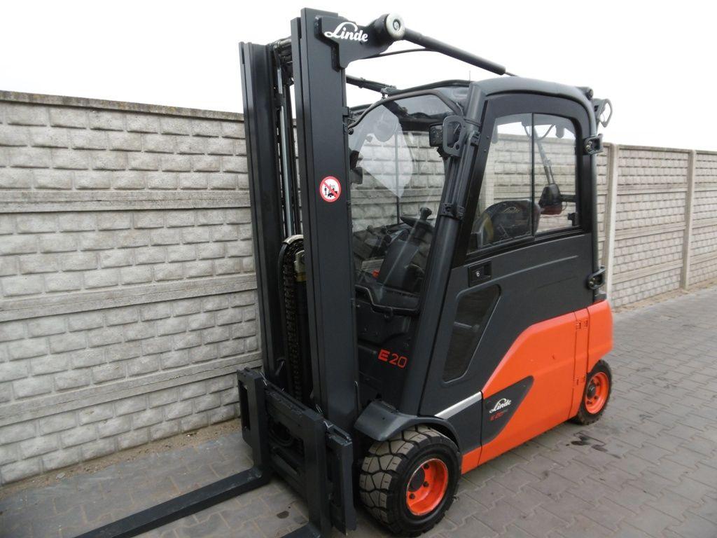 Linde E20PL-02 Electric 4-wheel forklift www.superlift-forklift.com