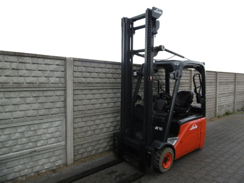 Linde E16-01 Electric 3-wheel forklift www.superlift-forklift.com