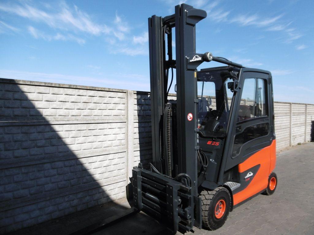 Linde E25HL-01/600 Electric 4-wheel forklift www.superlift-forklift.com