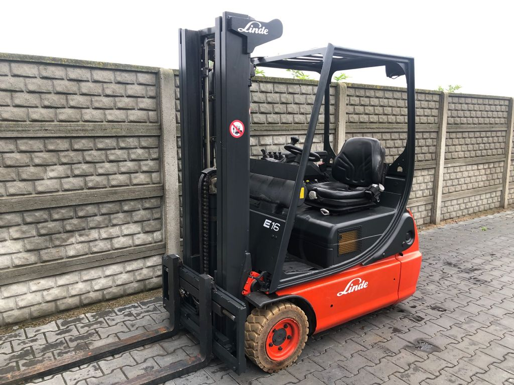 Linde E16C-02 Electric 3-wheel forklift www.superlift-forklift.com