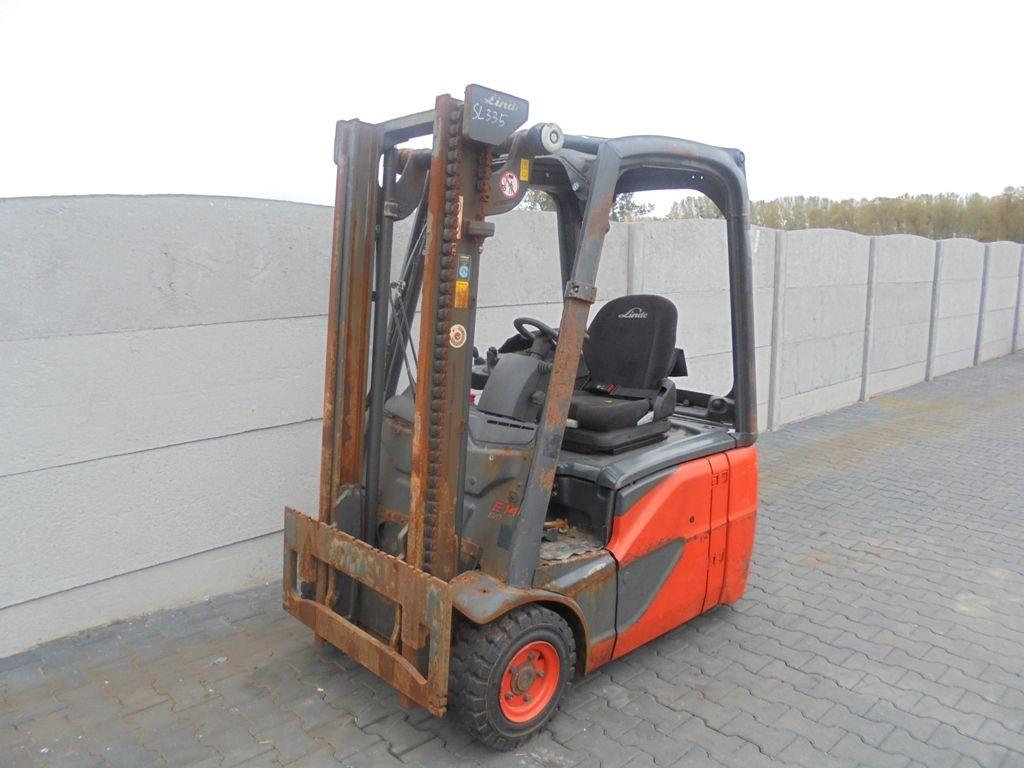Linde E14-02 Electric 3-wheel forklift www.superlift-forklift.com