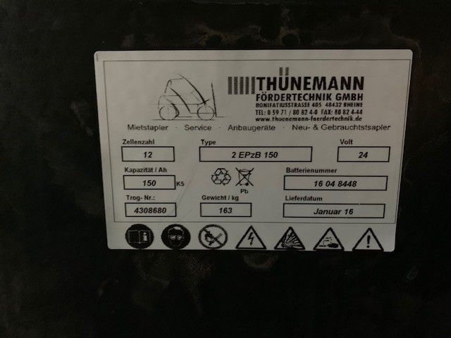 *Sonstige 2EPzB150 Antriebsbatterie www.thuenemann-stapler.de