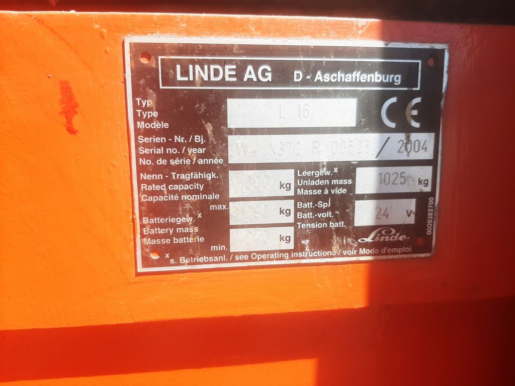 Linde L16 Hochhubwagen www.thuenemann-stapler.de