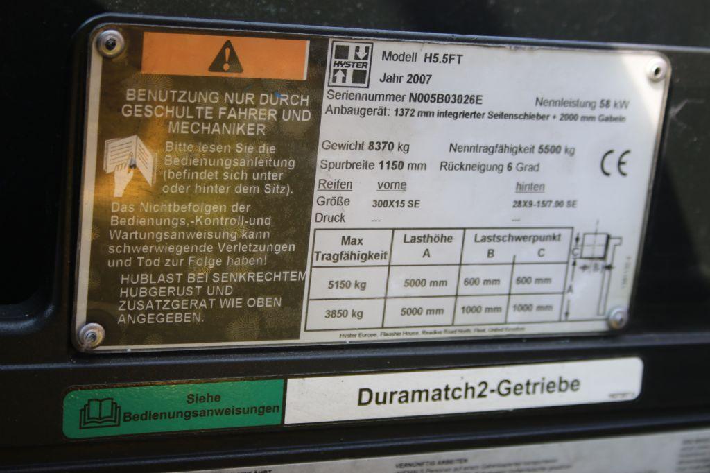 Hyster H5.5FT-D Dieselstapler www.thuenemann-stapler.de