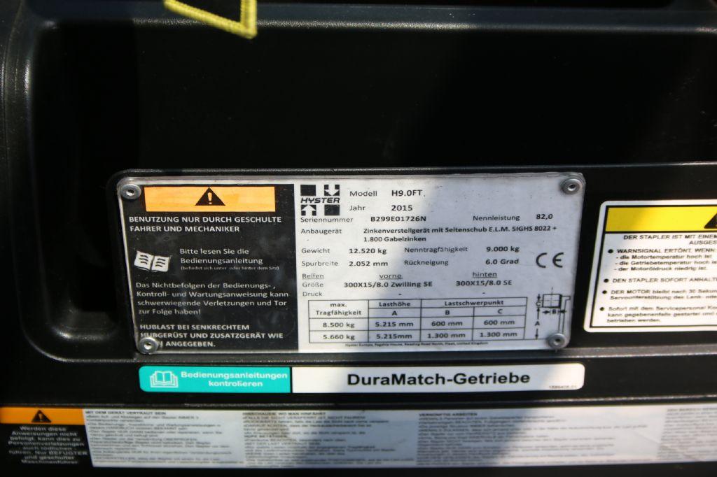 Hyster H9.0FT6 (D) Frontstapler www.thuenemann-stapler.de