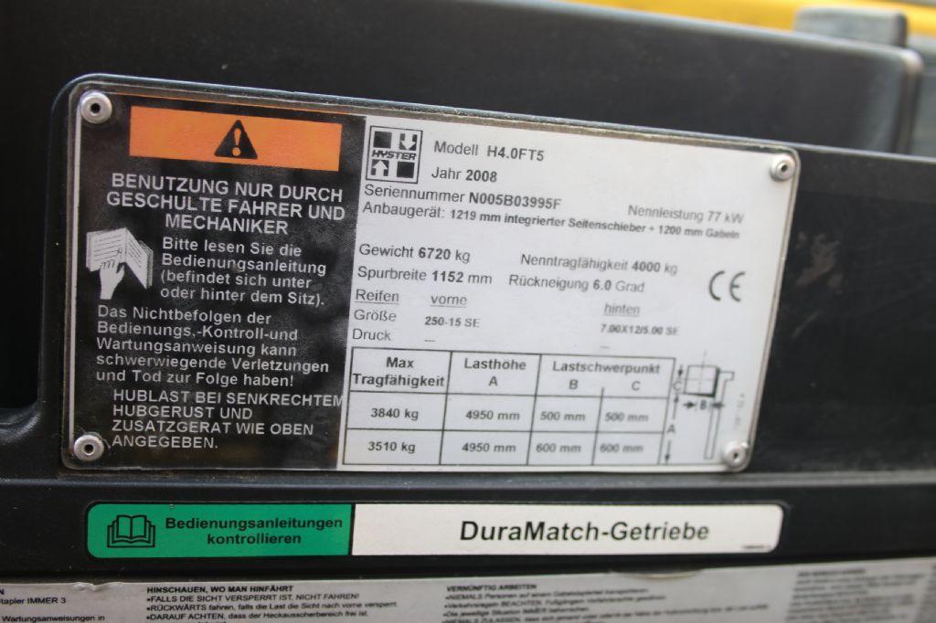 Hyster H4.0FT5 (G) Treibgasstapler www.thuenemann-stapler.de