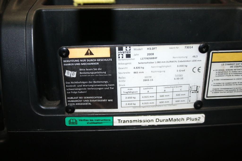 Hyster H3.0FT-D Dieselstapler www.thuenemann-stapler.de