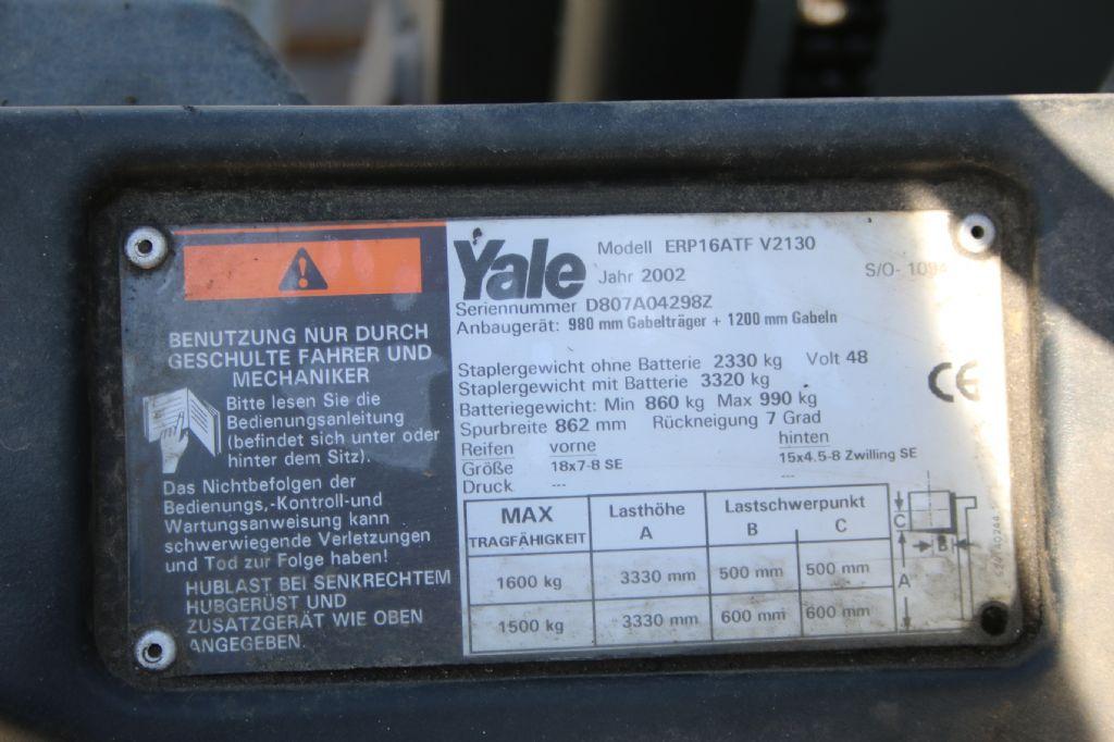 Yale ERP 16 ATF Elektro 3 Rad-Stapler www.thuenemann-stapler.de